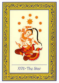 The Star Tarot Card - Royal Thai Tarot Deck