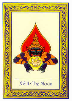 The Moon Tarot Card - Royal Thai Tarot Deck