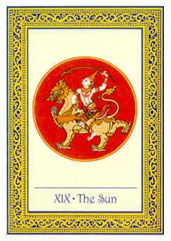 The Sun Tarot Card - Royal Thai Tarot Deck