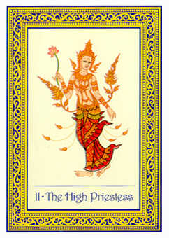 The High Priestess Tarot Card - Royal Thai Tarot Deck