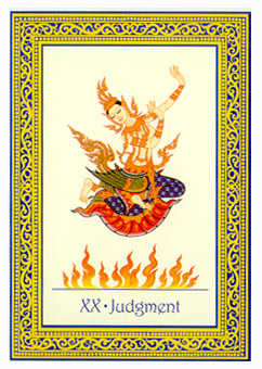 The Judgment Tarot Card - Royal Thai Tarot Deck