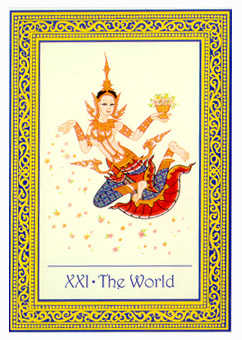 The World Tarot Card - Royal Thai Tarot Deck