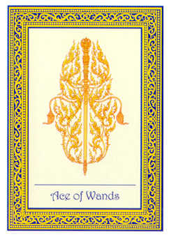 Ace of Clubs Tarot Card - Royal Thai Tarot Deck