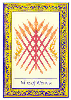 Nine of Batons Tarot Card - Royal Thai Tarot Deck