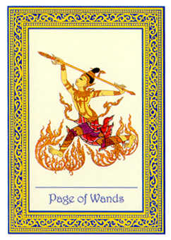 Page of Staves Tarot Card - Royal Thai Tarot Deck