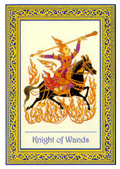 Knight of Staves Tarot Card - Royal Thai Tarot Deck