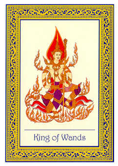King of Staves Tarot Card - Royal Thai Tarot Deck