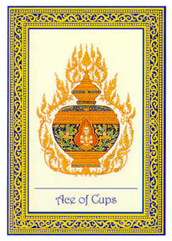 Ace of Hearts Tarot Card - Royal Thai Tarot Deck