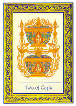 Two of Cups Tarot Card - Royal Thai Tarot Deck