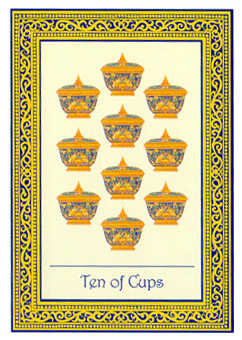 Ten of Hearts Tarot Card - Royal Thai Tarot Deck