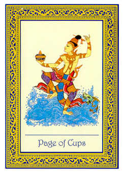 Daughter of Cups Tarot Card - Royal Thai Tarot Deck