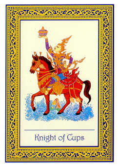 Prince of Hearts Tarot Card - Royal Thai Tarot Deck