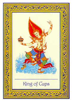 King of Cups Tarot Card - Royal Thai Tarot Deck