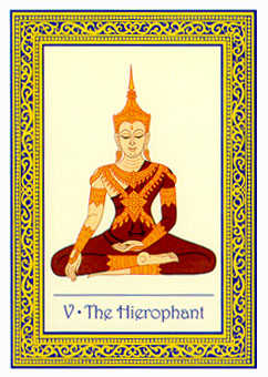 The Hierophant Tarot Card - Royal Thai Tarot Deck