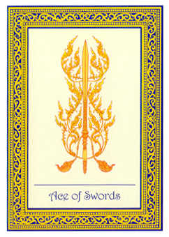 Ace of Swords Tarot Card - Royal Thai Tarot Deck