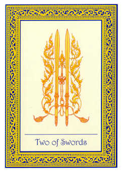 Two of Swords Tarot Card - Royal Thai Tarot Deck