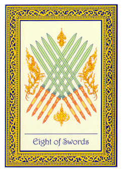 Eight of Spades Tarot Card - Royal Thai Tarot Deck