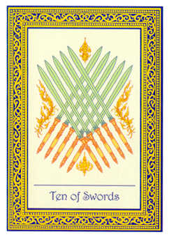 Ten of Swords Tarot Card - Royal Thai Tarot Deck