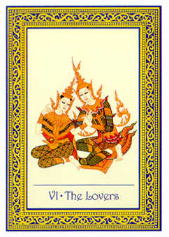 The Lovers Tarot Card - Royal Thai Tarot Deck
