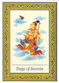 Page of Spades Tarot Card - Royal Thai Tarot Deck