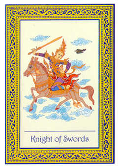 Knight of Spades Tarot Card - Royal Thai Tarot Deck