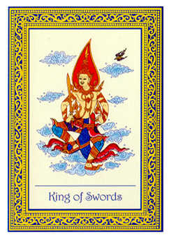 King of Spades Tarot Card - Royal Thai Tarot Deck