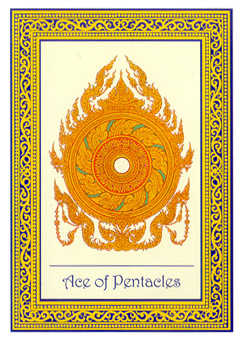 Ace of Pentacles Tarot Card - Royal Thai Tarot Deck