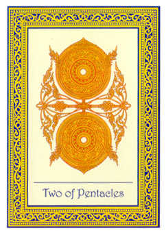 Two of Coins Tarot Card - Royal Thai Tarot Deck