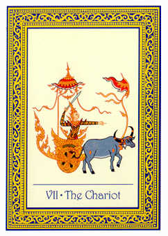 The Chariot Tarot Card - Royal Thai Tarot Deck