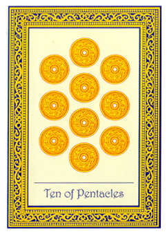 Ten of Coins Tarot Card - Royal Thai Tarot Deck