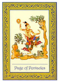 Page of Coins Tarot Card - Royal Thai Tarot Deck