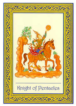 Cavalier of Coins Tarot Card - Royal Thai Tarot Deck