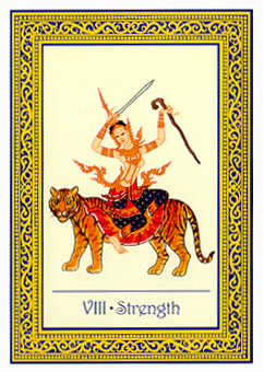 Strength Tarot Card - Royal Thai Tarot Deck