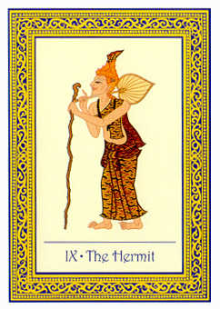 The Hermit Tarot Card - Royal Thai Tarot Deck
