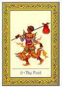 The Fool Tarot card in Royal Thai deck