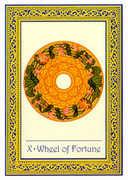 Wheel of Fortune Tarot card in Royal Thai deck