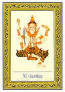 Justice Tarot card in Royal Thai deck