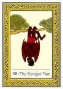The Hanged Man Tarot card in Royal Thai deck