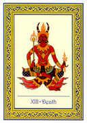 Death Tarot card in Royal Thai deck