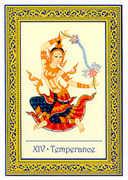 Temperance Tarot card in Royal Thai deck