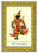 The Devil Tarot card in Royal Thai deck
