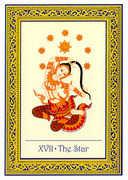 The Star Tarot card in Royal Thai deck