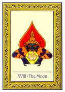 The Moon Tarot card in Royal Thai deck