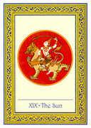 The Sun Tarot card in Royal Thai deck