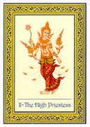 The High Priestess Tarot card in Royal Thai deck
