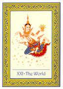 The World Tarot card in Royal Thai deck