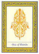 Ace of Wands Tarot card in Royal Thai Tarot deck