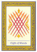 Eight of Wands Tarot card in Royal Thai deck