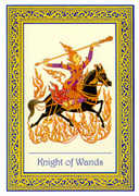 Knight of Wands Tarot card in Royal Thai deck