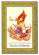 Queen of Wands Tarot card in Royal Thai deck